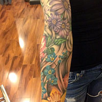 Full Sleeve of Flowers