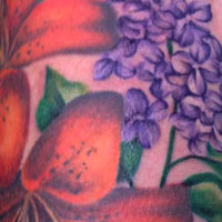 Lilac and Tiger Lily Sleeve